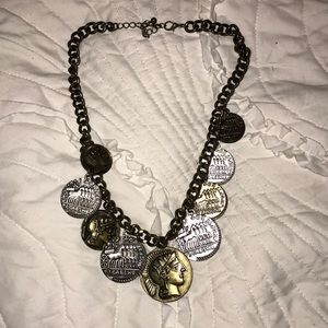 Jewelry - Adjustable Gold and Silver Coin Necklace